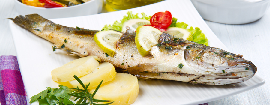 Seabream with vegetables